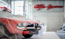 "Ausstellung ""Mythos Alfa Romeo"" im Technikmuseum Sinsheim."