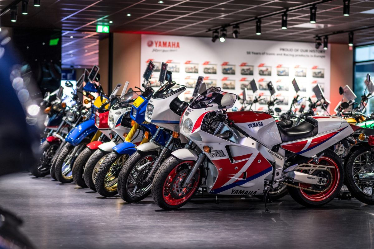 "Blick in die ""Yamaha Motor Collection Hall""."