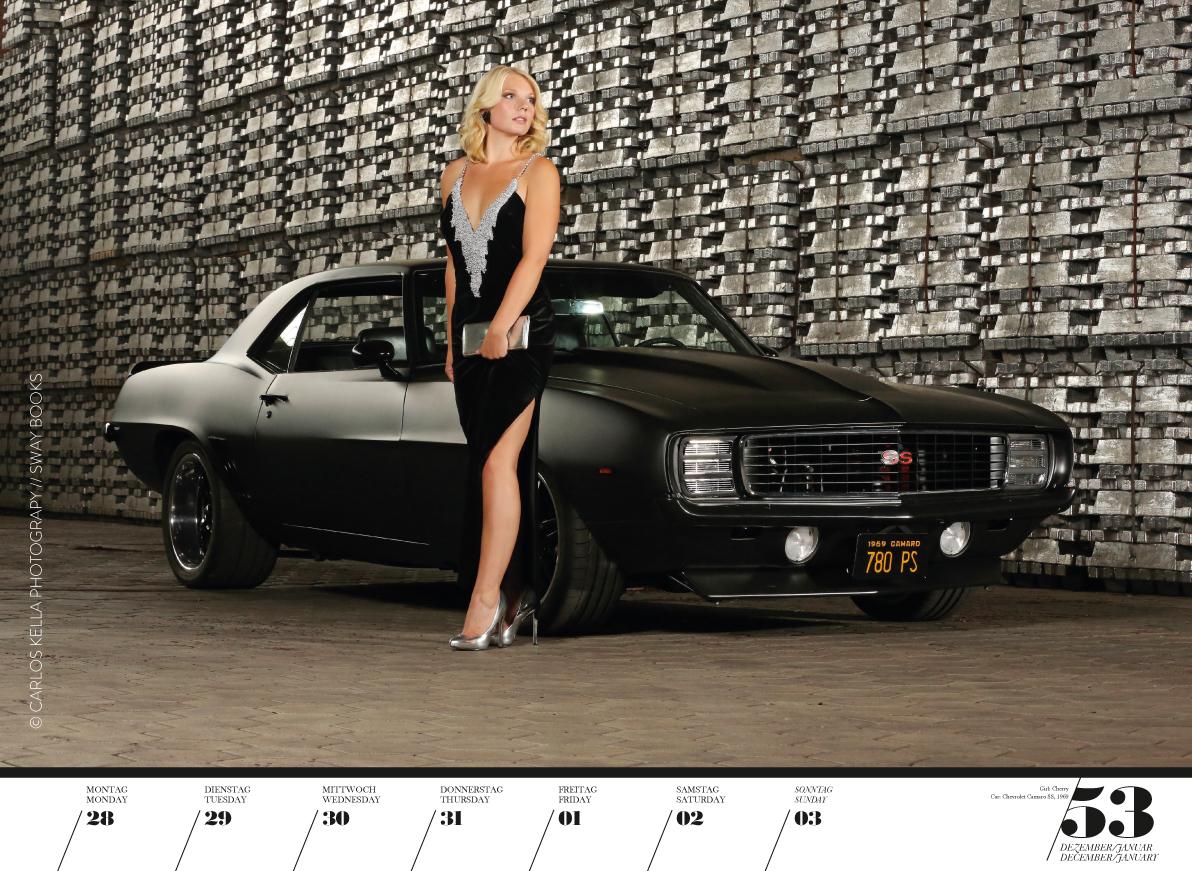 """Kalender """"Girls & legendary US-Cars 2020""""."""