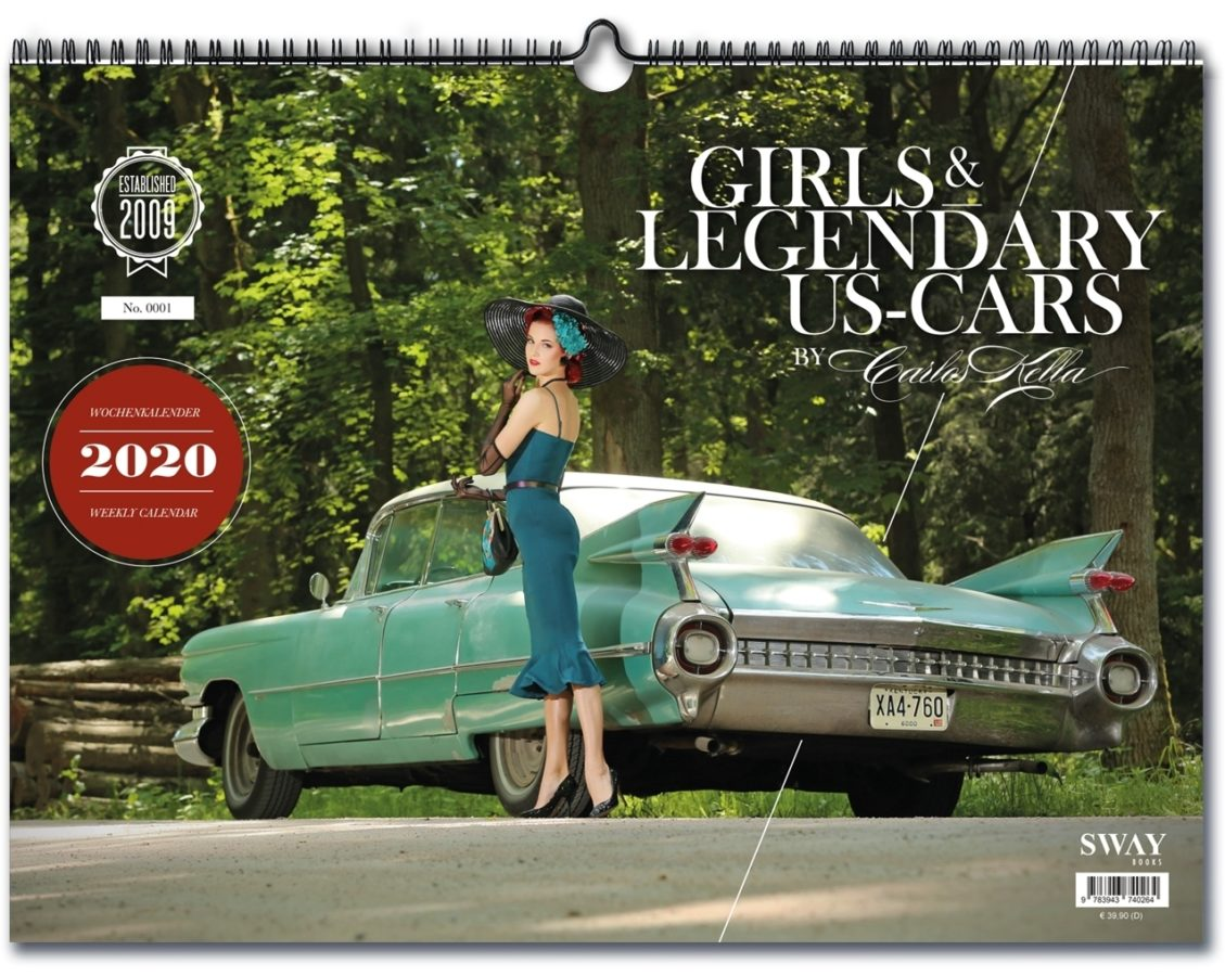 "Kalender ""Girls & legendary US-Cars 2020""."