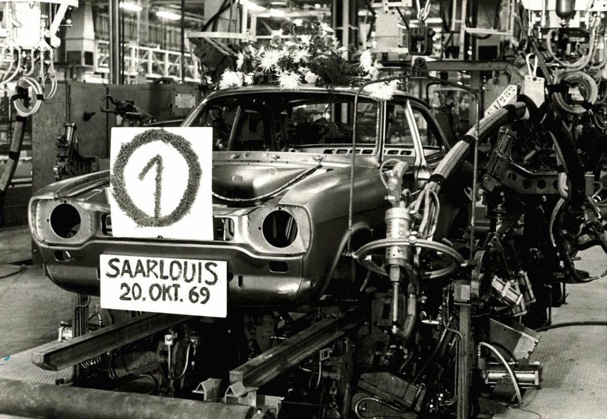 50 Jahre Ford Saarlouis: Erste Rohkarosse 1969.