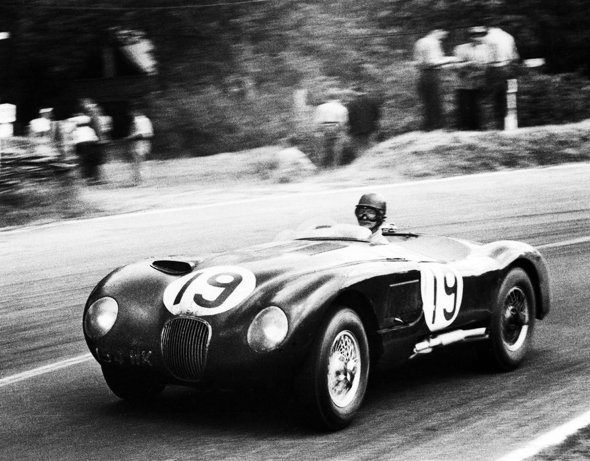 Jaguar C-Type in Le Mans 1953.