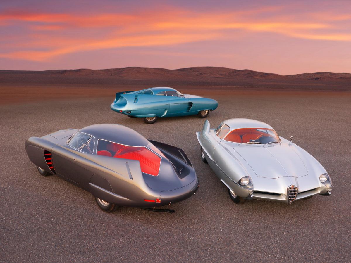 Alfa Romeo Berlina Aerodinamica Tecnica 5-7-9d: Die drei Fahrzeuge wurden 2020 für zusammen 14,84 Millionen Dollar versteigert.