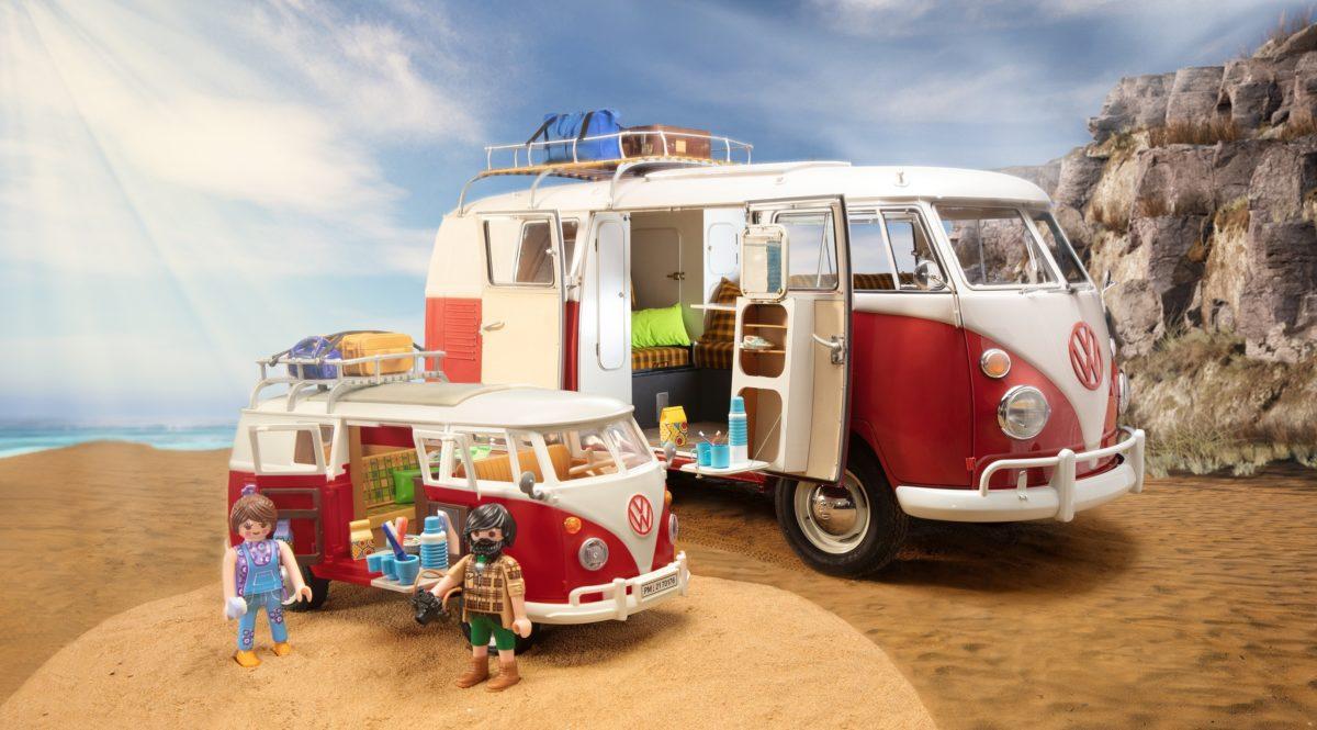VW T1 Camping Bus von Playmobil und das Original-Vorbild..