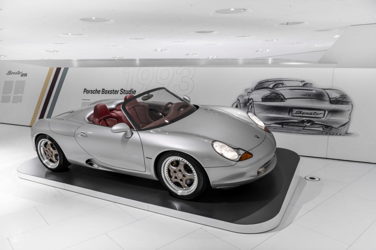 """Sonderschau """"25 Jahre Boxster"""" im Porsche-Museum in Stuttgart."""