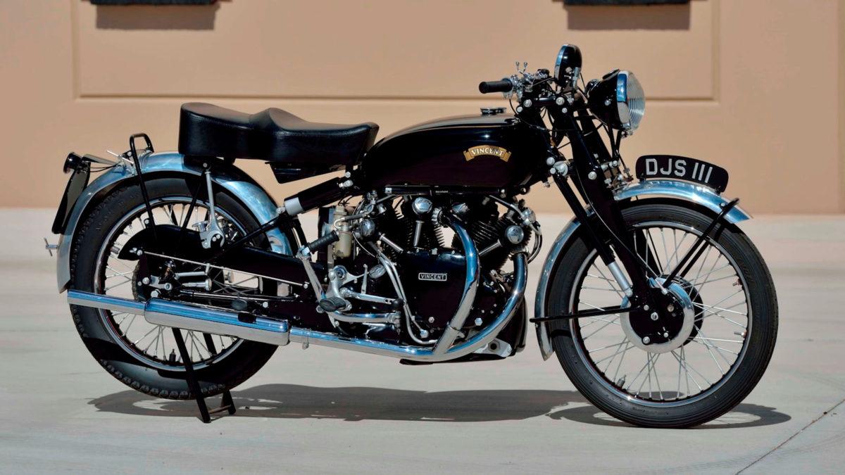 1938er Vincent HRD Series A Twin.