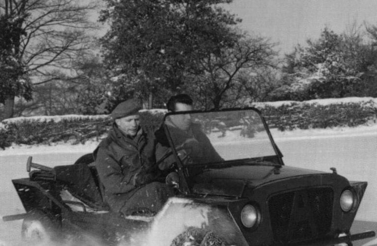 Der Mini Moke wird beim britischen Militär getestet (1962).