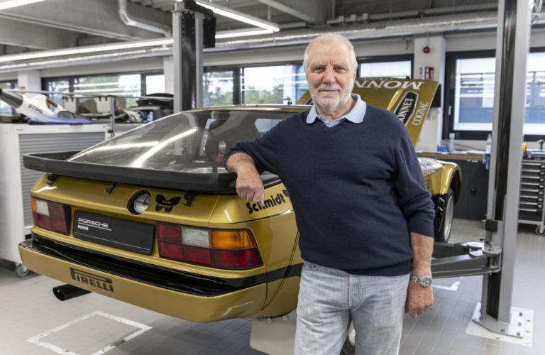Walter Röhrl und der Porsche 924 Carrera GTS Rallye von 1981.