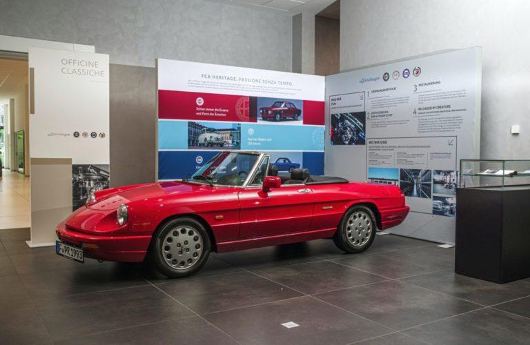 Im Heritage-Point kümmert sich FCA um seine Klassiker wie den Alfa Romeo Giulia, Lancia Delta, Alfa Romeo Spider